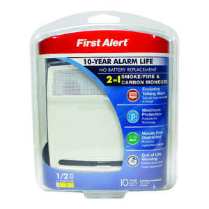 First Alert  Battery-Powered  Electrochemical/Photoelectric  Smoke and Carbon Monoxide Alarm