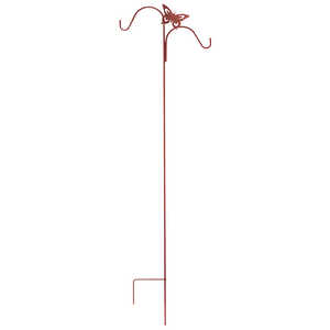 Panacea  Brown  Steel  84 in. H Double Crook with Butterfly  Plant Hook  1 pk