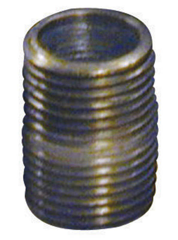 B & K  Southland  2-1/2 in. MPT   x 2-1/2 in. Dia. x 12 in. L MPT  Galvanized  Steel  Pipe Nipple