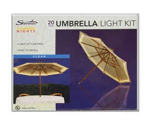 Celebrations  Umbrella  Clear  Rope Light  22 ft.
