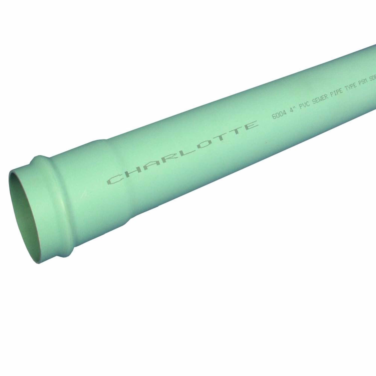 Charlotte Pipe  14 ft. L x 4.215 inch  Dia. PVC  Sewer Pipe