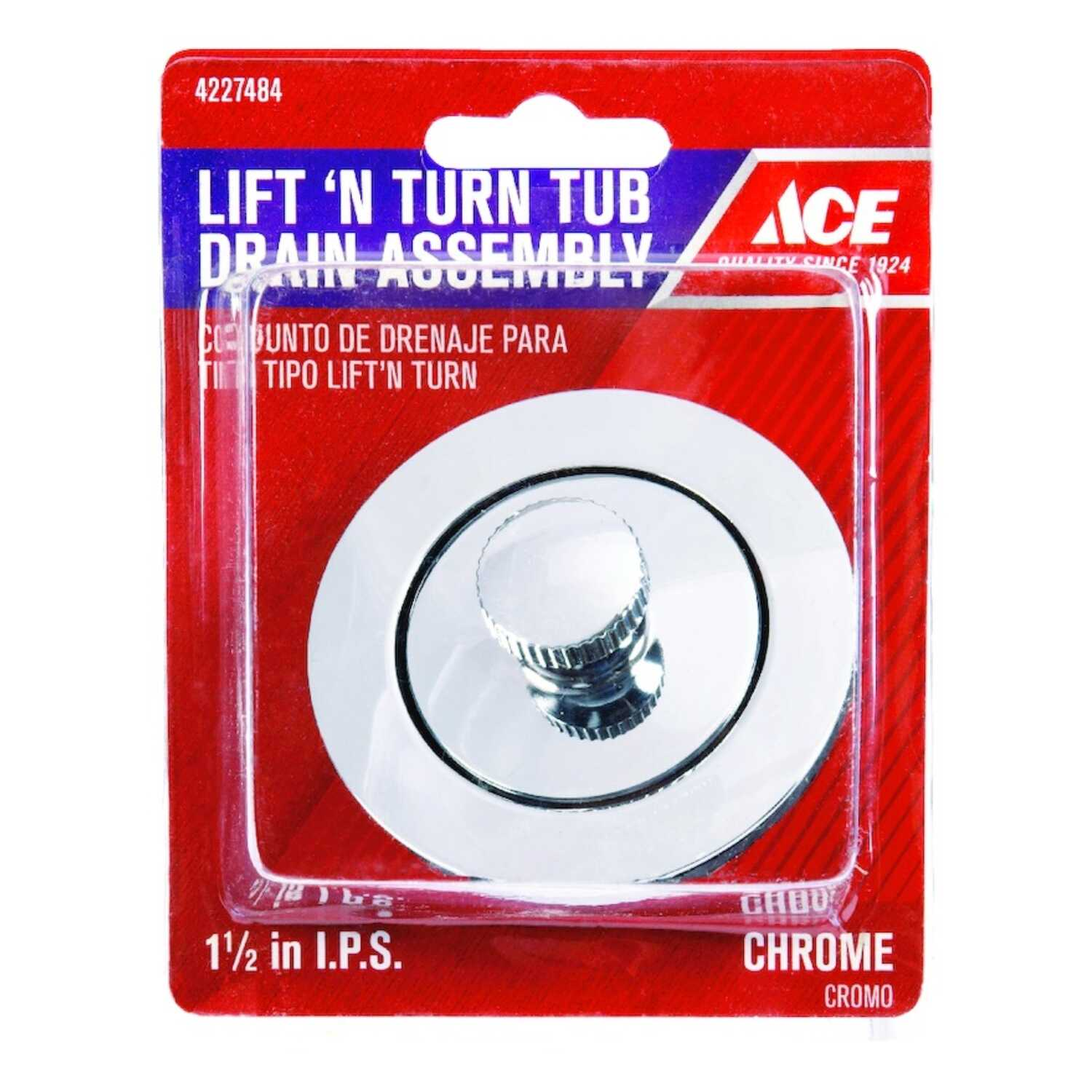 Ace  1-1/2 in. Chrome  Zinc  Sink Strainer