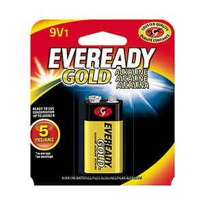 Eveready  Gold  9-Volt  Alkaline  Batteries  9 volt 1 pk Carded