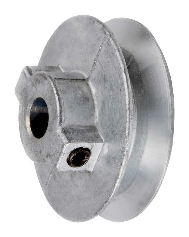 Chicago Die Cast  2 in. Dia. Zinc  Single V Grooved Pulley