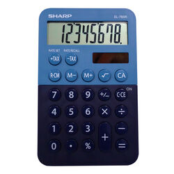 Sharp  8 digit Calculator  Blue