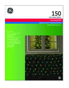 GE  Constant On  Incandescent  Net  Light Set  Multicolored  24 sq. ft. 150 lights