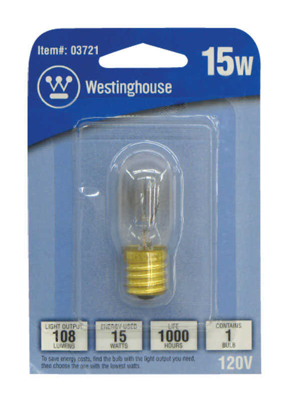 Westinghouse  15 watts T7  Tubular  Incandescent Bulb  E17 (Intermediate)  Warm White  1 pk