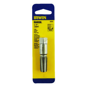 Irwin  Hanson  High Carbon Steel  SAE  Plug Tap  1/4 in.-18NPT  1 pc.