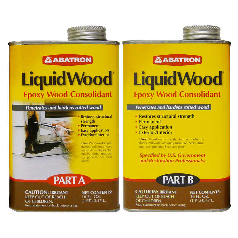 Abatron  LiquidWood  Clear  Epoxy Wood Consolidant Kit  2 pt.