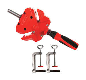 Bessey  2 in.  x 1.25 in. D Metal  Right Angle Clamp  Red