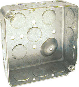 Raco  Square  Steel  2 Gang  Outlet Box  Gray  2 gang 4 in.