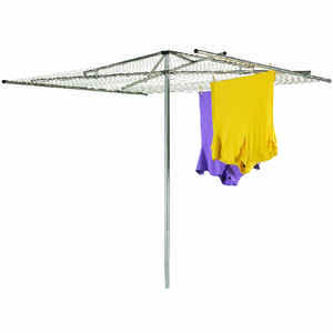 Household Essentials  72 in. H x 72 in. W x 62 in. D Steel  Clothes Drying Rack