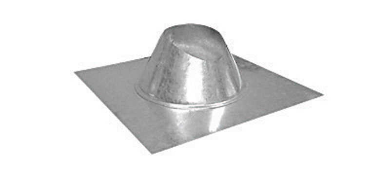 Imperial Manufacturing  4 in. Dia. Galvanized Steel  Adjustable Fireplace Roof Flashing