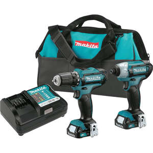 Makita  CXT  Cordless  Drill/Driver and Impact Driver Combo Kit  12 volts