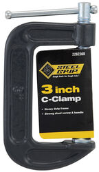 Steel Grip 3 in. Adjustable C-Clamp 1 pc.