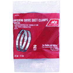 Ace  3 in. to 4 in. Worm Drive Clamp  Metal
