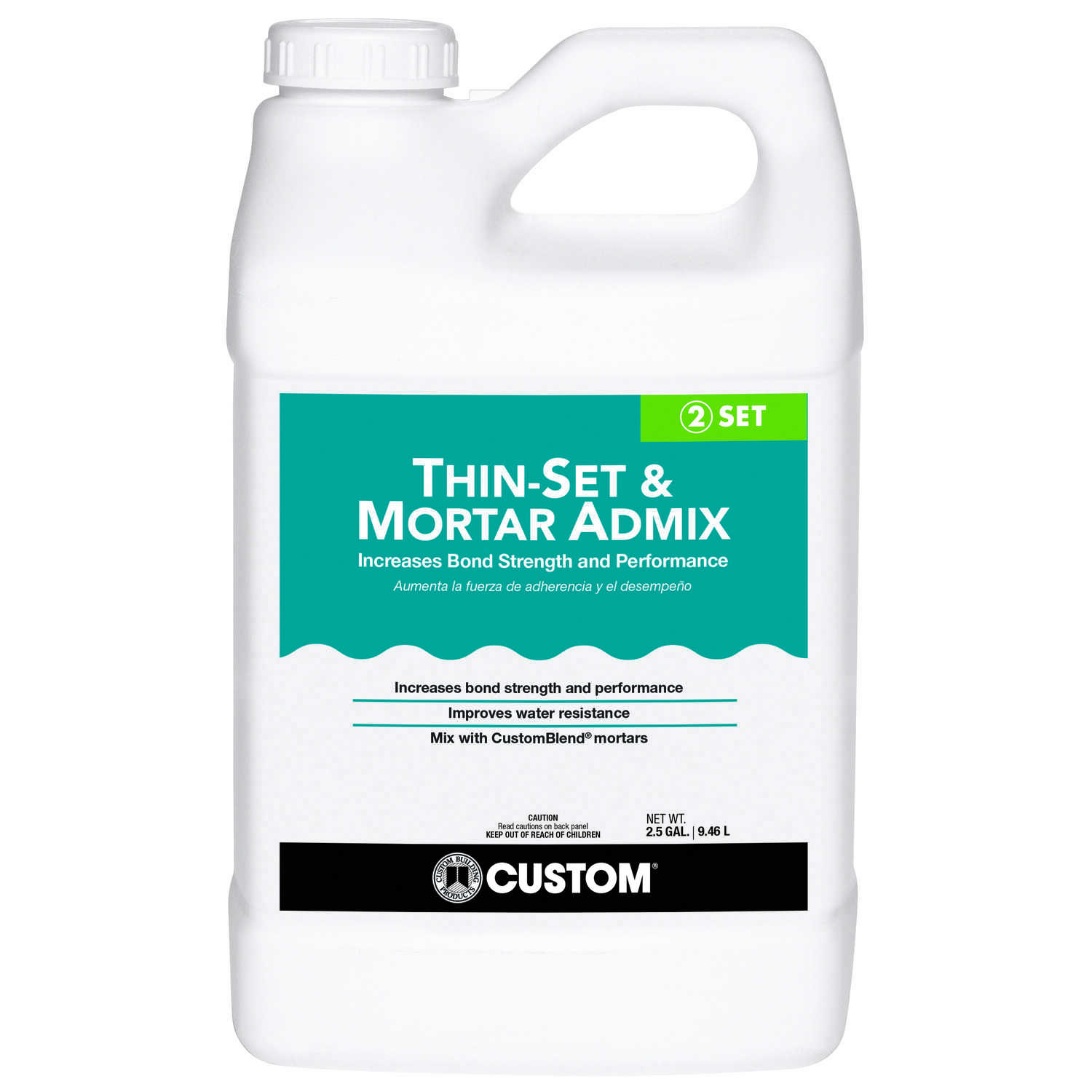 Custom Building Products Indoor And Outdoor White Grout Gal - Custom blend thin set mortar