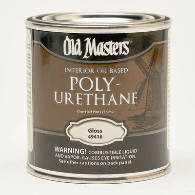 Old Masters  Gloss  Clear  Oil-Based  Polyurethane  0.5 pt.