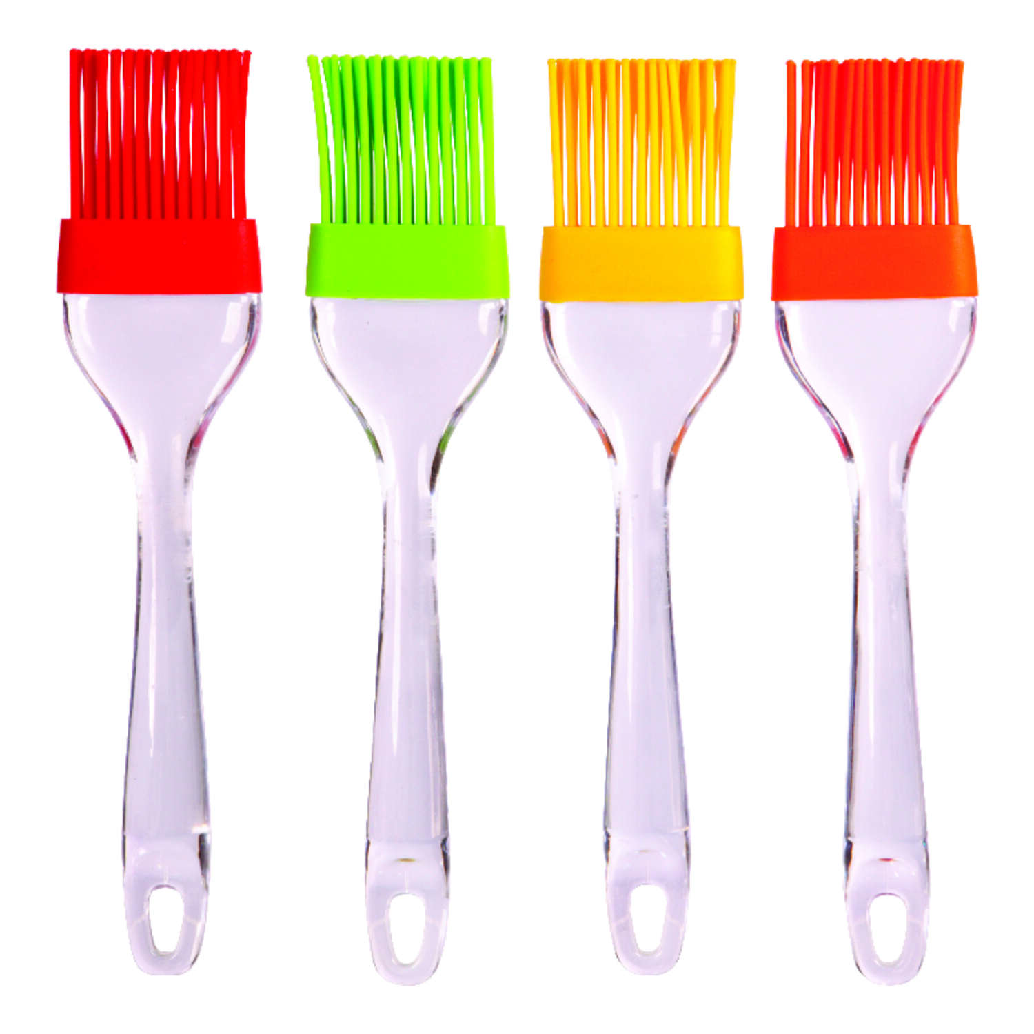 Home Plus  1.75 in. W x 8.5 in. L Assorted  Silicone  Basting Brush