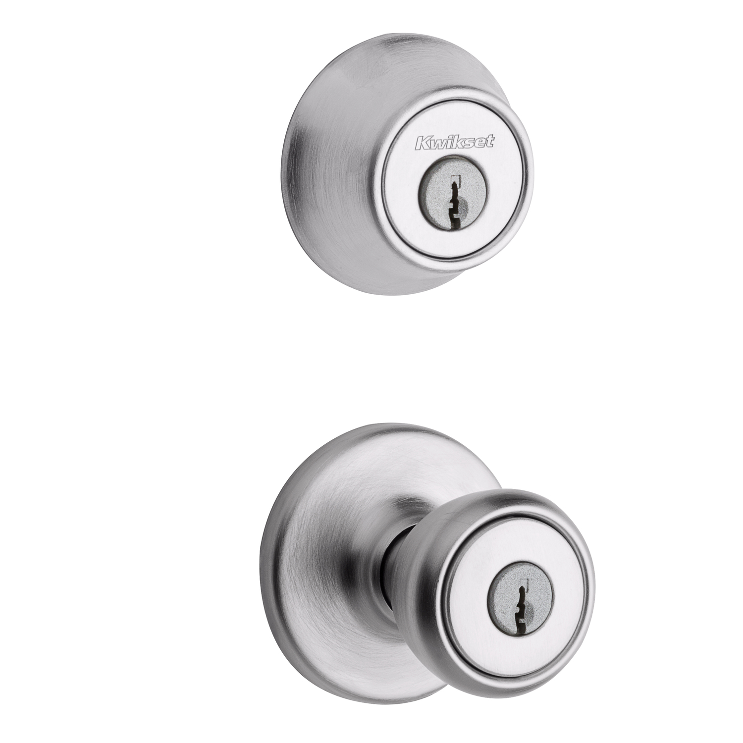 Kwikset  Tylo  Satin Chrome  Steel  Entry Lockset  ANSI/BHMA Grade 3  1-3/4 in.