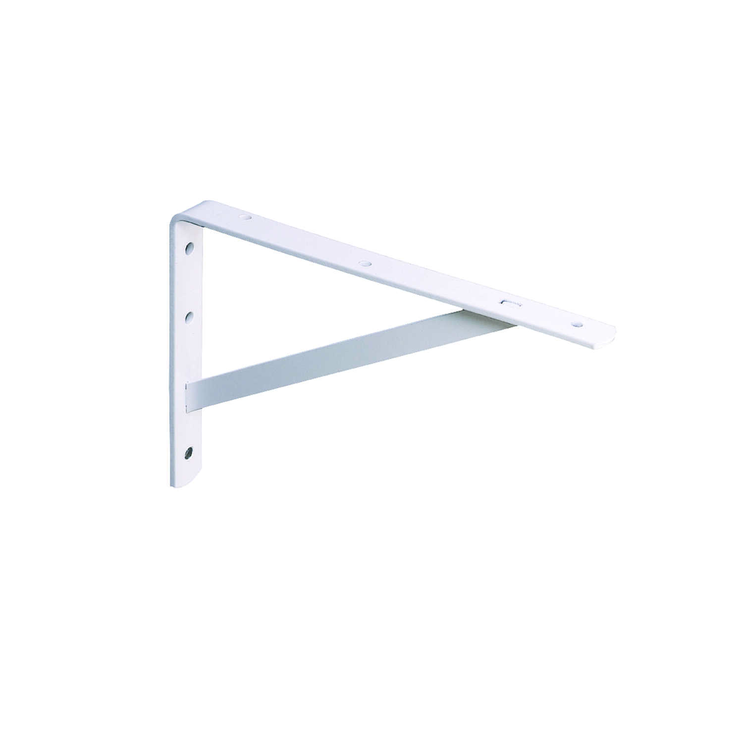 Knape & Vogt  White  Steel  Bracket  16 in. L 600 lb.