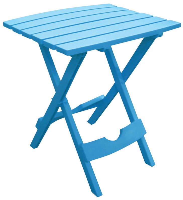 Adams  Quik Fold  Blue  Classic Adirondack  Rectangular  Polypropylene  Folding Side Table