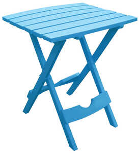 Adams  Quik Fold  Blue  Classic Adirondack  Polypropylene  Folding Side Table  Rectangular