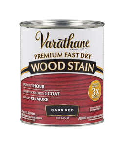 Varathane  Premium Fast Dry  Semi-Transparent  Barn Red  Wood Stain  1 qt.
