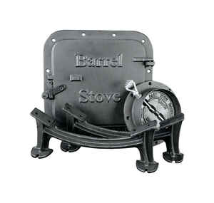 United States Stove  Iron  Elegant  Barrel Stove Kit