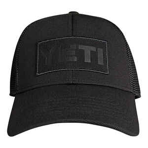 YETI  Trucker Hat  Black  One Size Fits All