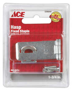 Ace  Zinc  1-3/4 in. L Fixed Staple Safety Hasp