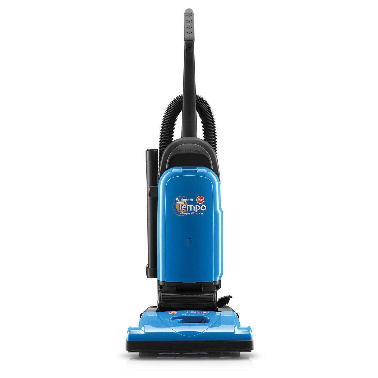 Hoover  Tempo WidePath  Bagged  Upright Vacuum  12 amps Allergen  Blue