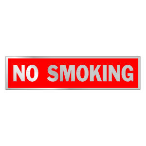 Hy-Ko  English  No Smoking  Sign  Aluminum  2 in. H x 8 in. W