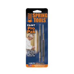 Spring Tools Paint Pro Pak 2 pc. Hammerless Nail Set and Door Pin Removal Tool 1/32 and 2/32 in.