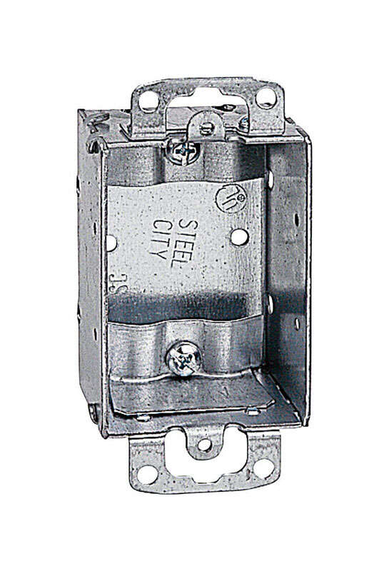 Steel City 3 in. Rectangle Steel Switch Box Silver