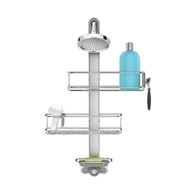 simplehuman  Shower Caddy  27.6 in. H x 13.3 in. W x 5.9 in. L Brushed  Silver  Stainless steel / An