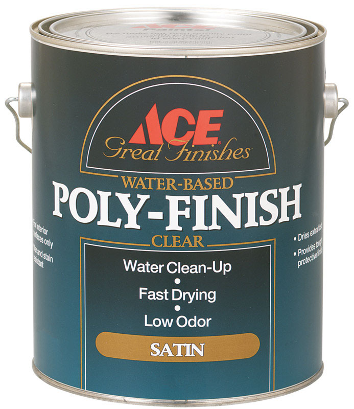 Ace  Clear  Water Based Poly-Finish  1 gal. Satin