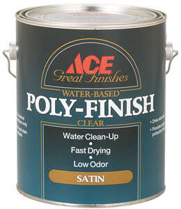 Ace  Clear  Water-Based  1 gal. Satin  Poly Finish