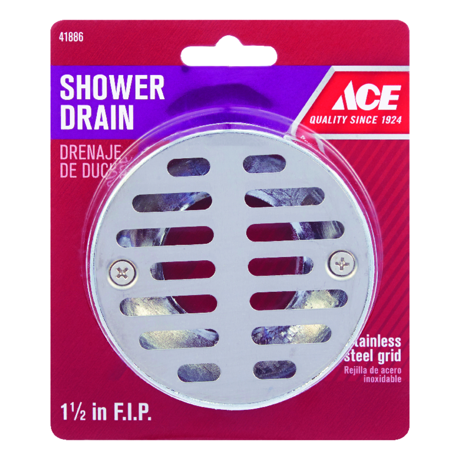 Ace 1-1/2 in. Dia. Stainless Steel Shower Drain - Ace Hardware
