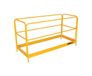 Metaltech  Steel  Yellow  Scaffolding Guard Rail