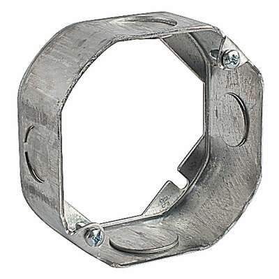 Steel City  4 in. Octagon  Galvanized Steel  Box Extension Ring  Silver