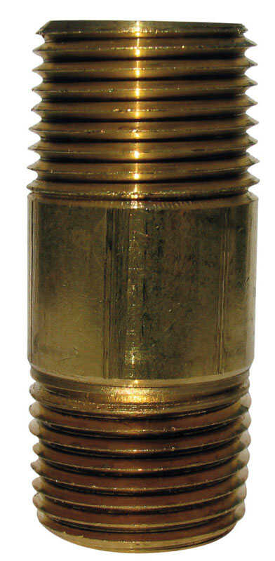 JMF 5 in.  3/8  MPT To MPT  3/8 in. Dia. Brass  Pipe Nipple