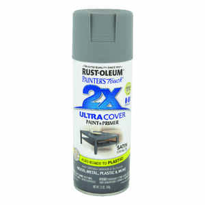 Rust-Oleum  Painter's Touch Ultra Cover  Satin  Granite  Spray Paint  12 oz.