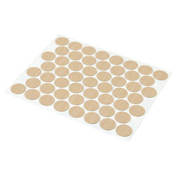 Prime-Line  Round  Plastic  Screw Hole Cover  9/16 in. Dia. x 0.25 in. L 53 pk Maple