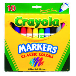 Crayola  Classic  Assorted  Broad Tip  Markers  10 pk