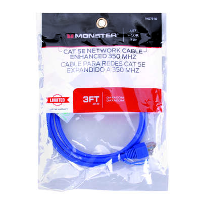 Monster Just Hook It Up 3 ft. L Category 5E Networking Cable