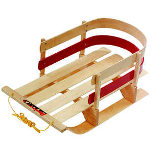 Paricon  Pull Sleigh  Deluxe Baby  Wood  Sled  29 in.