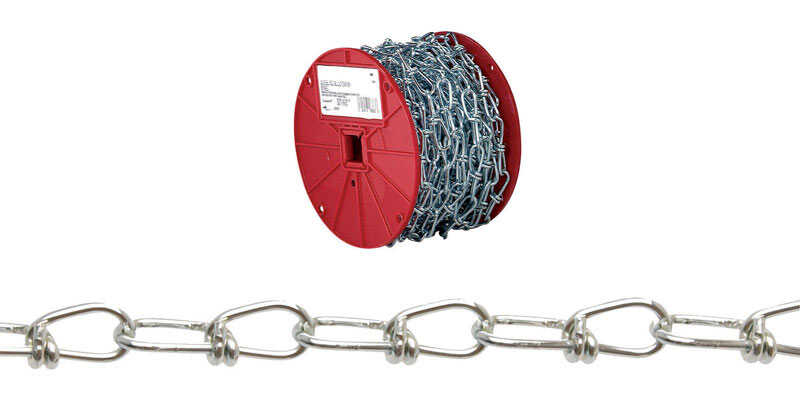 Campbell Chain  No. 3 in. Double Loop  Carbon Steel  Chain  5/64 in. Dia. x 200 ft. L