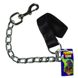 PDQ  Power Lead  Silver  Chain Lead  Steel  Dog  Leash  Small/Medium