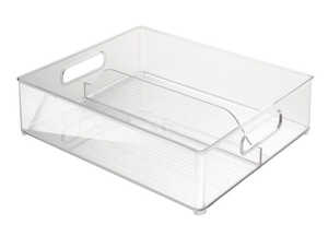 InterDesign  Fridge Binz  4 in. H x 14.5 in. D x 12 in. W Storage Bin  Stackable